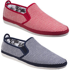 Flossy Brieva Espadrilles Mens Summer Riviera Canvas Pumps Plimsoles Shoes