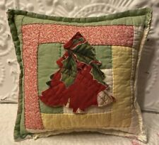 NEW Handmade Christmas Tree Pillow Vintage Quilt Chenille Bedspread Super Cute!!