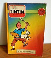 HERGE Journal de TINTIN couverture inédite de 1956
