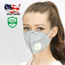 [5 PIECES/PACK] GRAY Reusable Face Mask with Breathing Valve | USA SELLER