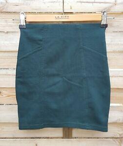 Mini jupe moulante verte Pull & Bear taille XS