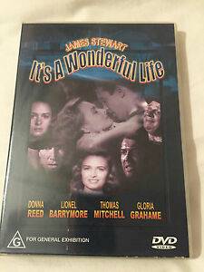 1 x It's a Wonderful Life James Stewart DVD As New