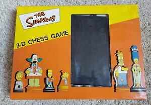 THE SIMPSONS 3-D CHESS GAME _ EXCELLENT CONDITION _
