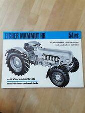 Orig. Traktor Prospekt Eicher Mammut HR 54 PS / Schlepper