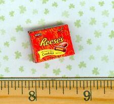 Dollhouse MINIATURE  Size Chocolate Peanut Butter Cookie box