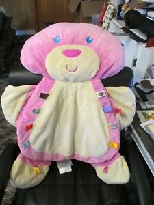 """TAGGIES Baby  Play Mat, Tummy Time,  Pink Bear 34"""""""