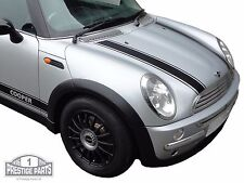 Genuine 3M vinyl BLACK bonnet stripes for Mini Cooper R50 - top quality decals