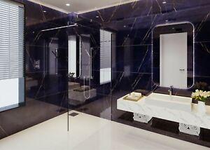 Blue Marble High Gloss Porcelain Tiles 120x60, 9mm Wall-Floor, Kitchen-Bathroom