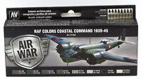 Vallejo 71.148 RAF Colors Coastal Command 1939-45 (Air War) Acrylic Paint Set
