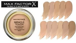 MAX Factor Miracle Touch Cream Foundation SPF30 with Hyaluronic Acid Brand NEW