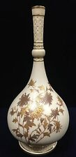 Antique Late 19th Century Royal Worcester Blush Ivory and Gilt Painted Vase