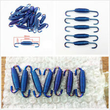 6 Pcs 68mm Length Blue Stainless Steel Motorcycle ATV Exhaust Pipe Spring Hooks