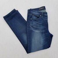 Womens J. CREW Broken in Boyfriend Jeans Dark Wash Mid Rise Size 28