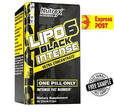 Lipo-6 Black Intense, Ultra Concentrate, 60 Black-Caps | Express Post + Sample