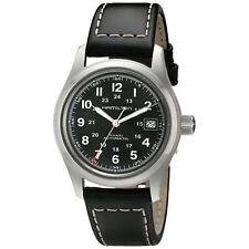 Hamilton H70455733 Khaki Field Automatic Black Leather 38mm Case Watch