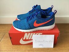 NIKE FLYKNIT ROSHE RUN Game Royal size 10 DS 677243-401