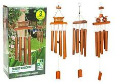 BAMBOO WOODEN WINDCHIME 67CM GARDEN INDOORS ORNAMENT FEATURE WIND CHIME