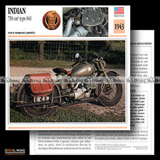 #079.11 INDIAN 750 TYPE 841 1943 MILITAIRE WW2 Fiche Moto Motorcycle Card