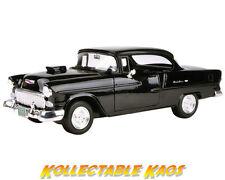 1955 Chevrolet Bel Air Hard Top Black Custom 1-18 Diecast Model Car by MOTORMAX