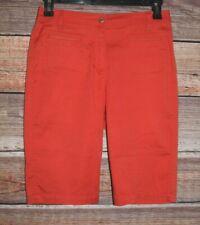 "Chicos Women's 0 Flat Front Orange Walking Shorts 29"" Waist"