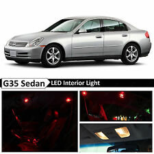 11x Red LED Lights Interior Package  2003-2006 G35 Sedan