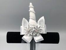 MAGICAL UNICORN BRIDAL Hairbow w/ tulle veil, Wedding, Flower Girl Unicorn