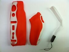 2 SILICON SKINS CASE COVERS FOR NINTENDO Wii REMOTE & NUNCHCUCK CONTROLLERS O&W