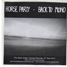 (EE642) Horse Party, Back To Mono - 2013 DJ CD