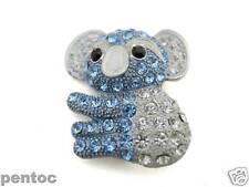 pin brooch- blue Koala Wq10880 enamel and crystal