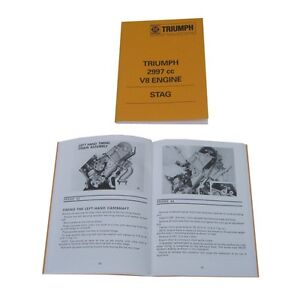 Triumph Stag engine service training notes manual / book