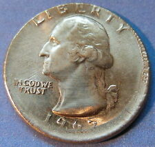 1965 Washington Quarter Error Off Center Struck Uncirculated US Coin #6041