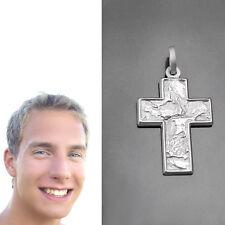 Männer Kreuz Anhänger und Kinder Kommunion mit Namen Gravur mit Kette Silber 925