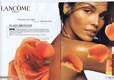 PUBLICITE ADVERTISING 115 2001  Lancôme  Flash Bronzer (2 pages) creme solaire