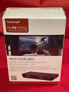 Hauppauge WinTV-DCR-2650 Dual Tuner Cable CARD Receiver New