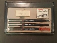 Rotring Art Pen Set of 3 Calligraphy Pens W Germany w Case