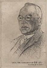 NEVILLE SHAW Signed Etching MALE PORTRAIT 1935