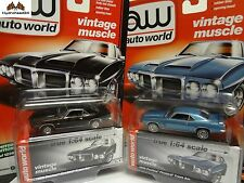 Auto World 1969 Pontiac Firebird Trans Am Set of 2 2017 Premium R1 C&D - 0017F