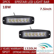 2pcs 7.5inch 18W SPOT Beam LED Work Light Bar Off road Driving Lamp UTB ATV 4WD