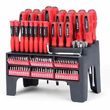 HORUSDY 100-Piece Magnetic Screwdriver Set with Plastic Racking, Best Tools for