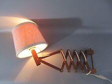 60s Teak Wandlampe Danish Design SCHERENLAMPE