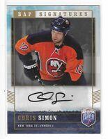2006-07 BE A PLAYER CHRIS SIMON BAP SIGNATURES AUTO #CS NEW YORK ISLANDERS