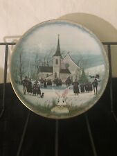 Signed x 2 P. Buckley Moss CHRISTMAS CAROL Plate 6th Annual Christmas A. Perena