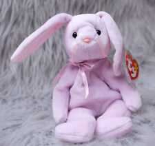 Floppity Bunny TY PVC Beanie Baby RETIRED Double Misprint Hang Tag 1996