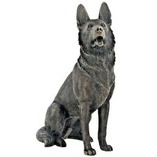 German Shepherd Cold Cast Bronze Figurine Sculpture Ornament Dog Lovers Gift