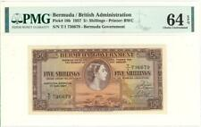 Bermuda 5 Shillings Currency Banknote 1957 PMG 64 Choice UNC EPQ