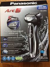 New Panasonic - Arc5 Automatic Cleaning/Charging Wet/Dry Electric Shaver-Silver