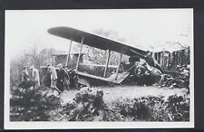 Aviation Photograph - Almost Postcard Sized Photo of Aeroplane Crash Site RS6408