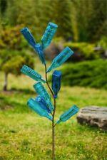 """Bottle Tree Metal Stake 62"""" Holds 10 Bottles Outdoor Garden Decor"""