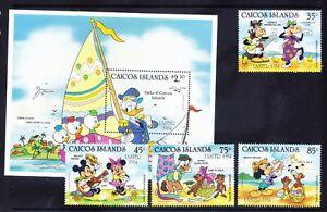 CAICOS IS 1984 SG50/MS54 set of 4+ mini-sheet Disney - Easter u/m cat £11.50