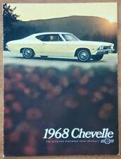 1968 Chevrolet Chevelle sales brochure catalog booklet pamphlet folder